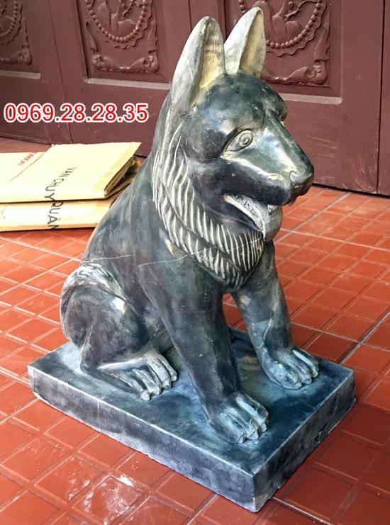 Chó đá tự nhiên xanh đen