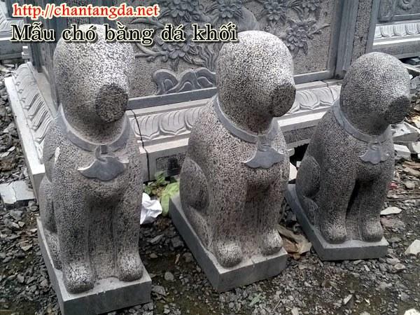 Mẫu chó bằng đá dáng cổ