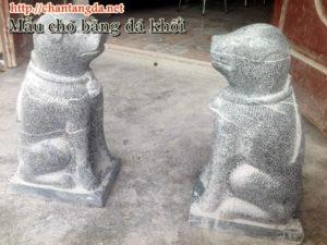 Chó bằng đá làm tại Ninh Bình