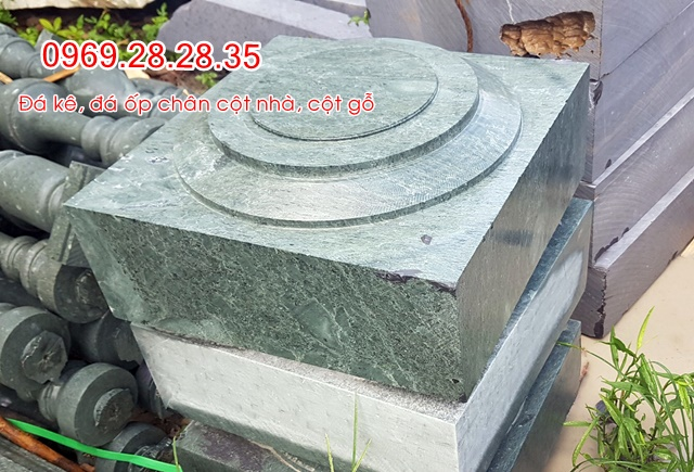 đá kê cột xanh rêu
