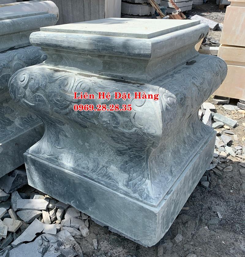 mẫu chân cột đá hình vuông